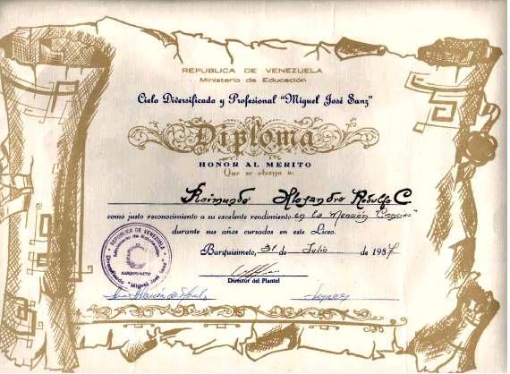 formatos de diplomas de honor